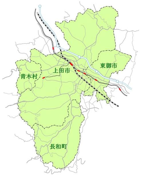 上田地域広域連合エリアマップ
